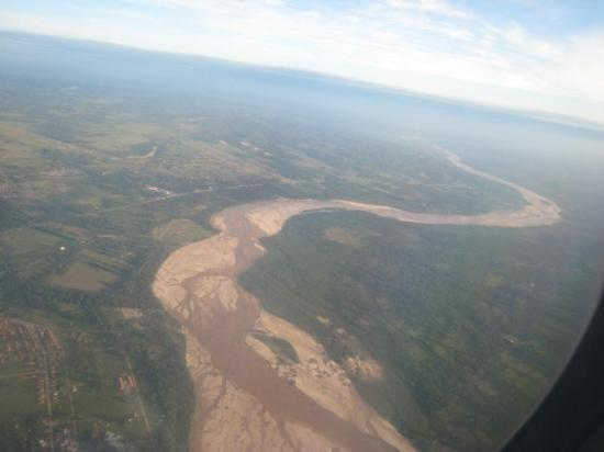 Santa Cruz, Bolivia: A VIEW OF RIO GRANDE.  Note the river is very dry this time of the year. In May it is fall in th