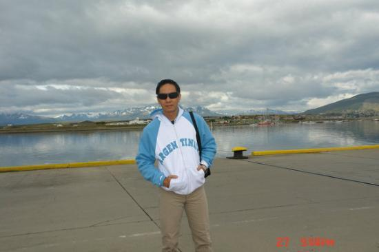 Ushuaia , Patagonia , Argentina ..kota yang terletak di ujung selatan dunia , paling bawah Argen