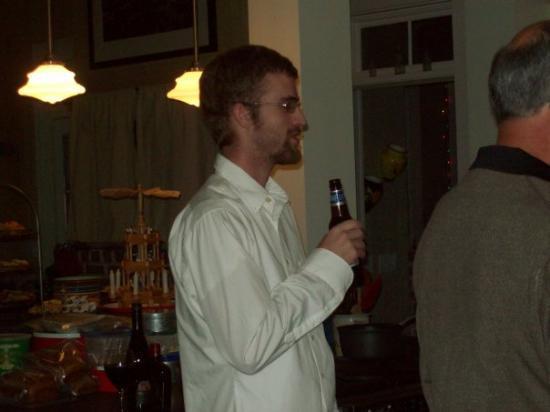 Beaufort, SC: Joe drinking a beer