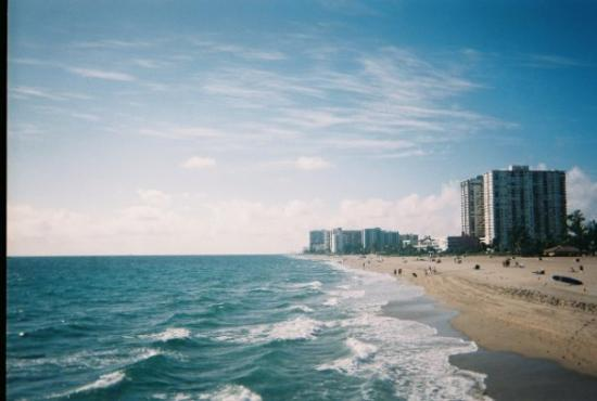 Pompano Beach from the Fishing Pier. Looking South