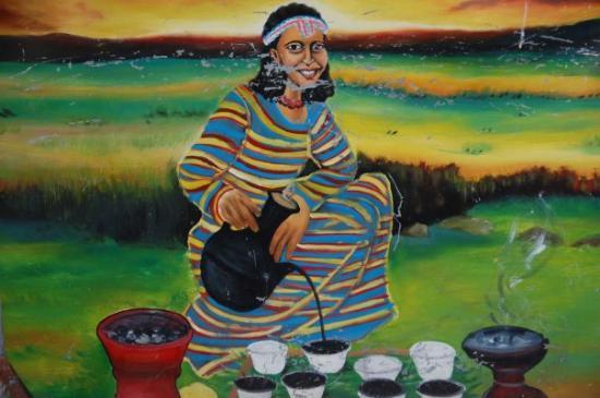 Awasa, Etiopia: coffee ceremony