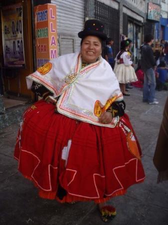 La Paz, Bolivia: スカートもっこもこ