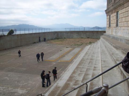 """Alcatraz: Recreation time outside for """"inmates"""""""