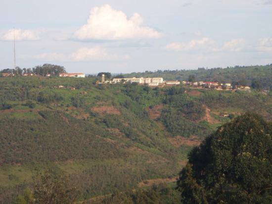 Kibungo, Rwanda: view of the hospital from the other hill