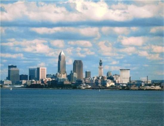View of Cleveland from our apartment