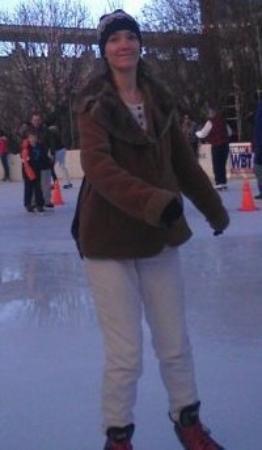 Ice Skating at Uptown Charlotte.