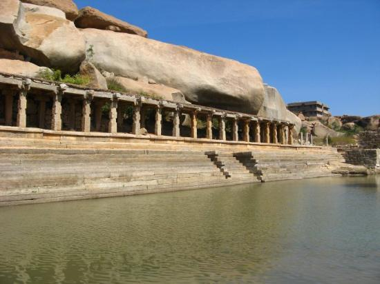 Hampi, India: one can find people working here (on the bazaar  streatch) searching of hidden treasure.