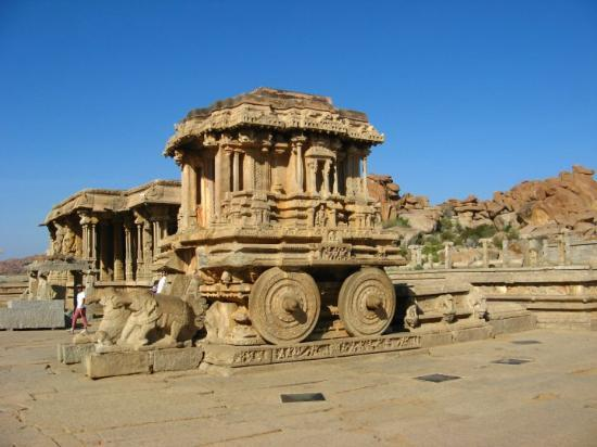 Hampi, India: chariot resembles the orrissa's (konark) sun temple.