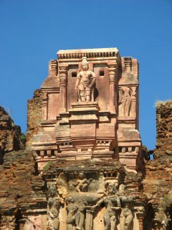 Hampi, India: krishna temple's main entrance - east side view