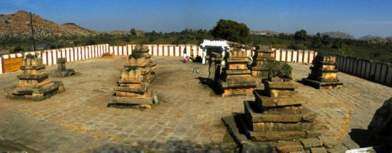 Hampi, India: nava brindavana  - tombs of 9 saints of madhwa lineage  - 1.Sri Padhmanabha Thirtha  2.Sri Ra