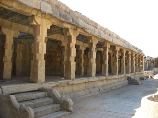 Hampi, India: krishna temple side view - garbha gudi is empty.  Krishdevaraaya installed idol of child-krishn