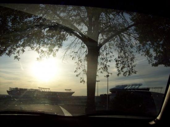 Kansas City, MO: Arrowhead and Kaufman stadiums. Cody's favorite picture. Hah.