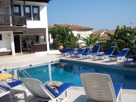 Dip anyone? The pool at our hotel in Kusadasi