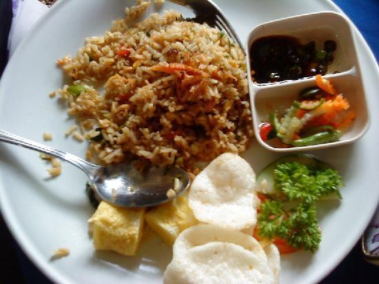 The Taman Ayu: indonesian bfast - nasi goreng