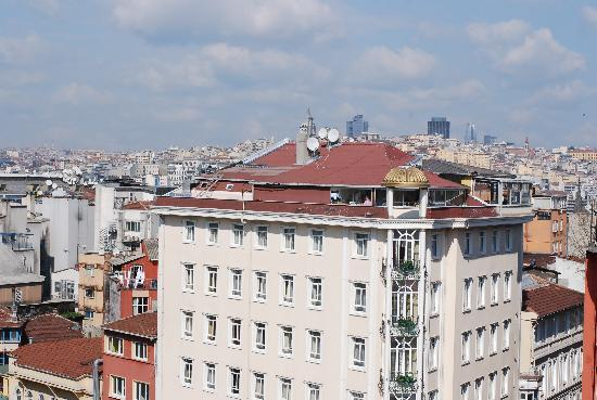 Second Home Hostel: View from the roof (the common room)