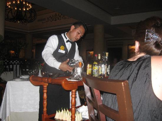 Grand Bahia Principe Coba: Making Spanish Coffee at Le Gourmet
