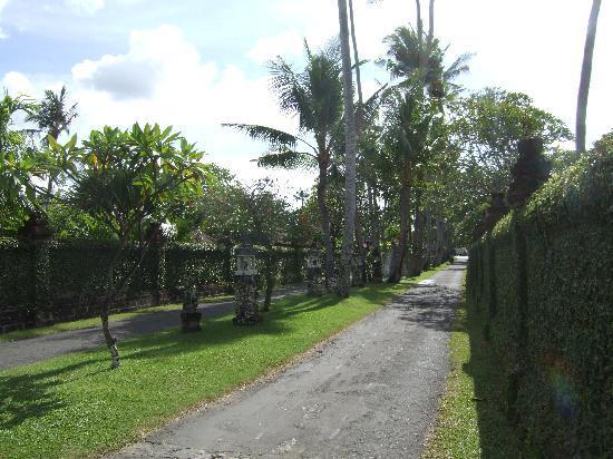 Tandjung Sari Hotel: Drive way to hotel