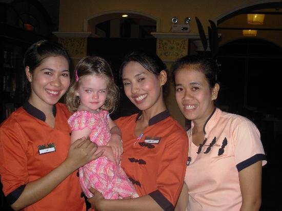 The Front Village Hotel: Staff & daughter