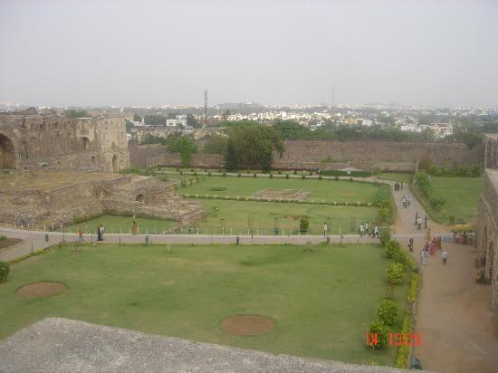 Golkonda Fort: the gardens at golconda fort