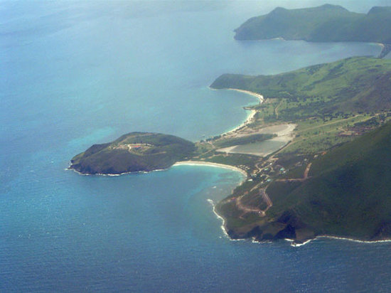 View of Turtle Beach from the air