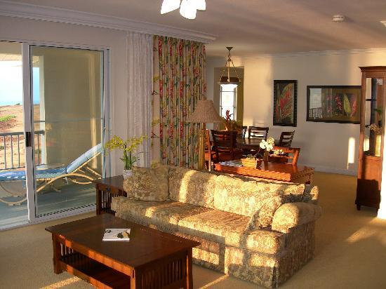 The Point at Poipu: Living room of the 3br