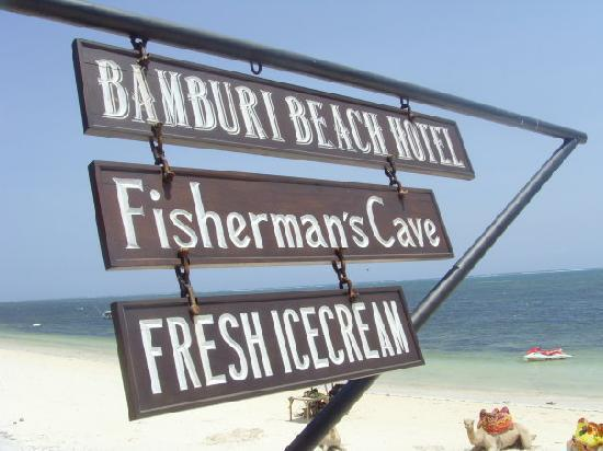 Bamburi Beach Hotel: Hotel sign