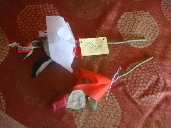 Aonang Cliff Beach Resort: valentine's roses from housekeeping