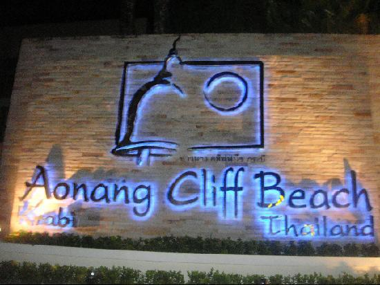 Aonang Cliff Beach Resort: main entrance from road