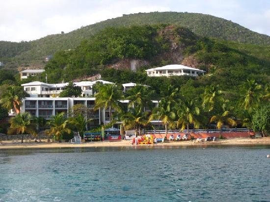 Bolongo Bay Beach Resort: Resort -- View from the Catamaran