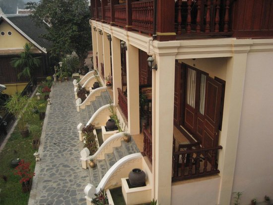 The View Pavilion - Boutique Hotel: View of front of our room from Breakfast room