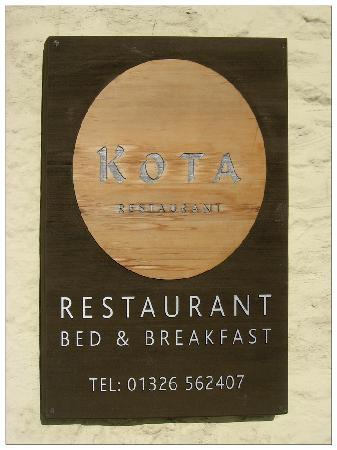 Kota restaurant ~ even the sign is stylish
