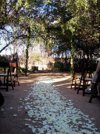 Hoffman Haus: Ceremony in the garden