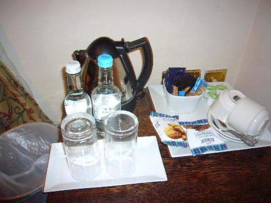 The Castle Inn: hospitality tray