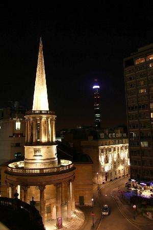 The Langham, London: All souls church - view from the room