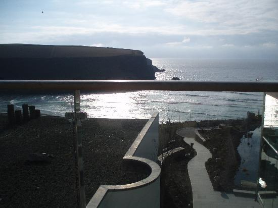 The Scarlet Hotel: View of Mawgan from lounge balcony