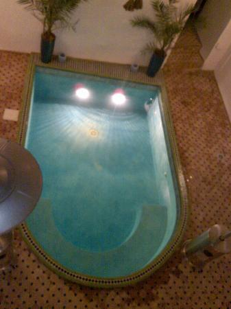 View of the indoor pool at Riad Miliana