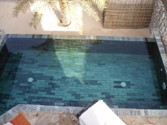 Six Senses Zighy Bay: View of the pool from the balcony
