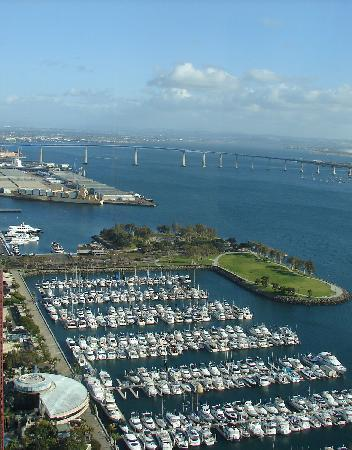 Manchester Grand Hyatt San Diego: View of the Coronado Bridge from Top of the Hyatt