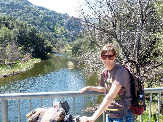 Malibu Creek State Park: To the left of this bridge was the nature center, to the right, on a trail along the creek was R