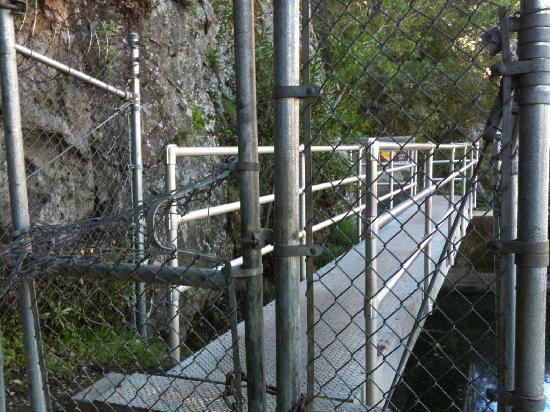 Malibu Creek State Park: No crossing Century Lake Dam