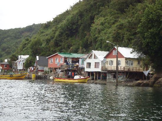 Puerto Montt, Chile: palafitos en la isla de Tenglo