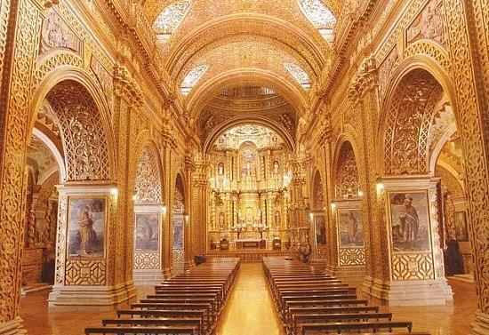 Quito Old Town: La Compania De Jesus Interior!