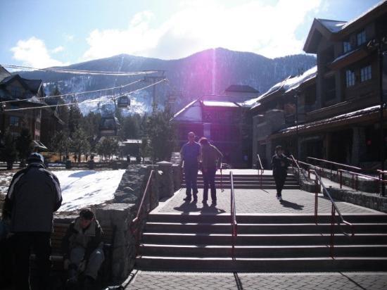 Lake Tahoe (California), CA: Heavenly resort, ready to get on the gondola.
