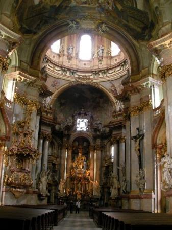 St. Nicholas' Kirke: Interior of the church of st. Nicholas, so-call the most beautiful Baroque church