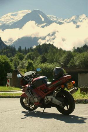 Mont Blanc in the back, Chamonix