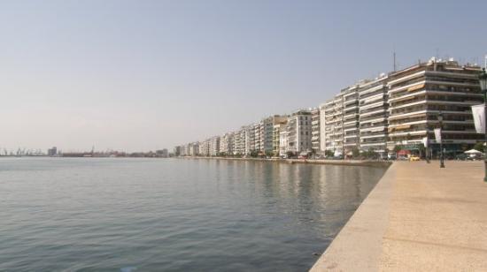 Thessaloniki, Hellas: la promenade de Thessalonik