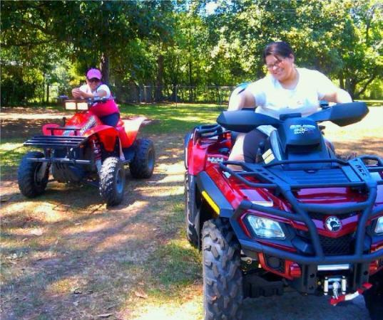 Dawson, GA: my north carolina buddies ridin' four-wheelers in terrell county...