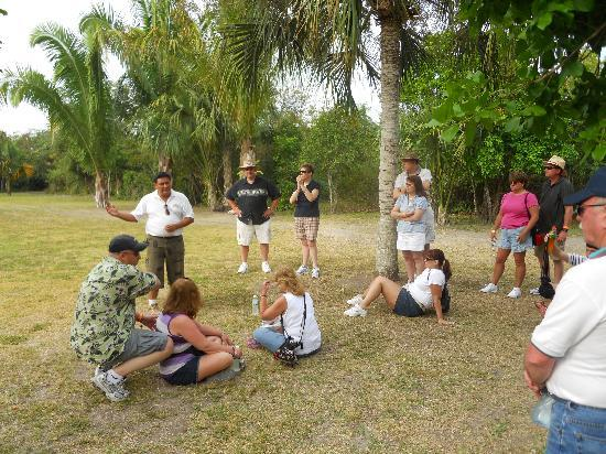 Zona Arqueologica De Chaachoben: Our guide David sharing the Mayan Culture with us