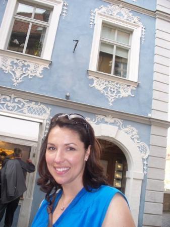 Bamberg, Tyskland: Love the blue building