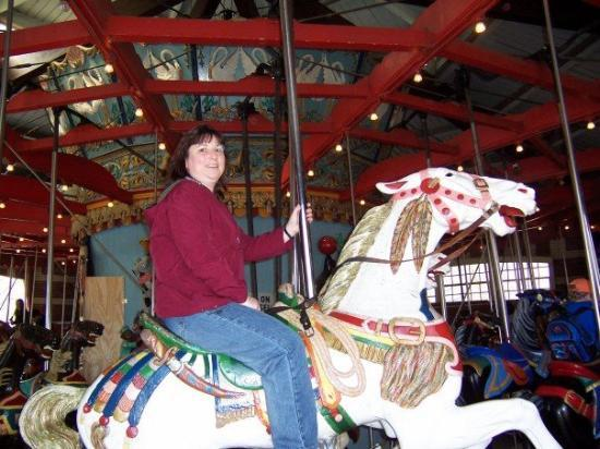 Central Park Carousel: Riding the carousel in Central Park, NY 2005